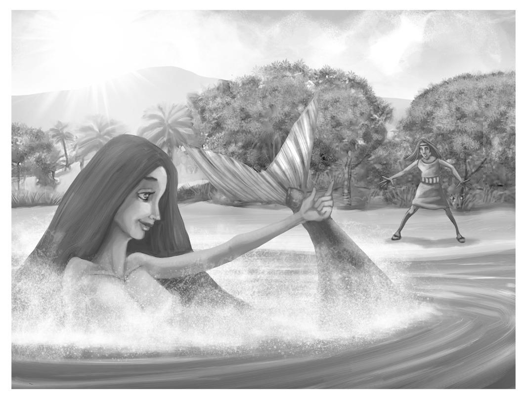 Sirena de Huacachina en el Oasis de America
