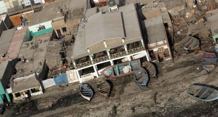 Bahia de Pisco - Terremoto de Pisco 15 de Agosto 2007