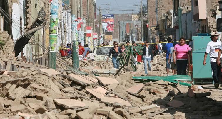 Calles de Ica - Terremoto de Pisco 15 de Agosto 2007