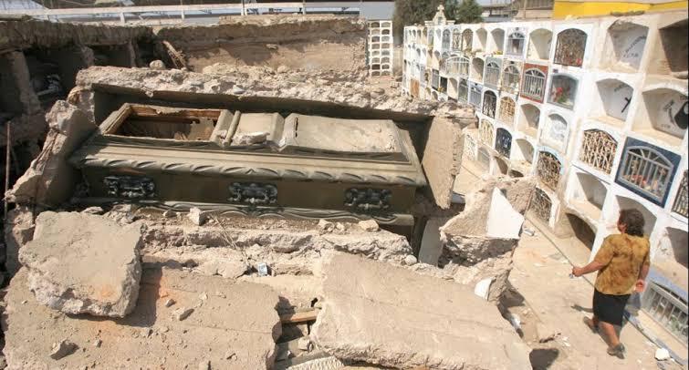Cementerio Viejo General de Ica - Terremoto de Pisco 15 de Agosto 2007