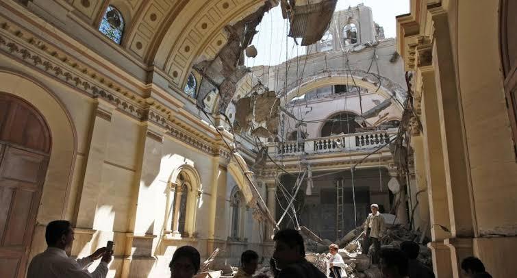 Iglesia de Pisco Interior - Terremoto de Pisco 15 de Agosto 2007
