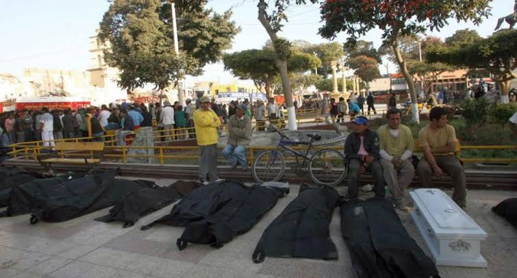 Plaza de Armas de Pisco - Terremoto de Pisco 15 de Agosto 2007